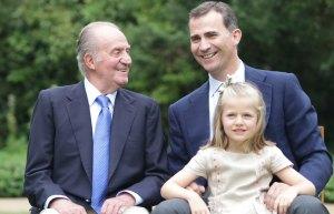 Rey Juan Carlos, Rey Felipe, Princesa Leonor