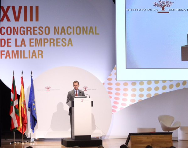 congreso empresa familia Felipe VI Letizia Leonor Sofia Juan Carlos Reino de España Casa Real española