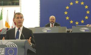 Don Felipe en el parlamento europeo