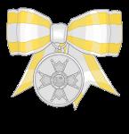 meda de plata (lazo de dama) isabel catolica