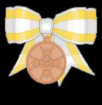 medalla de bronce (lazo de dama) isabel catolica